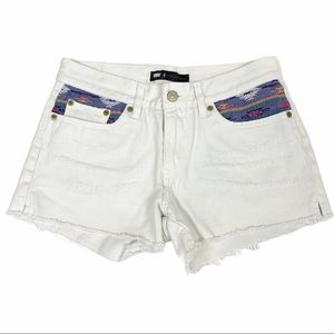 Levi's Southwestern Embroidered Cutoff Jean Shorts